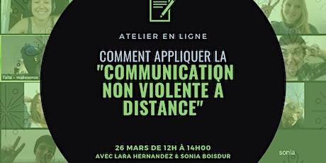 Comment appliquer la Communication Non Violente à distance ? billets