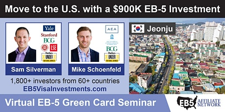 U.S. Green Card Virtual Seminar – Jeonju, South Korea tickets