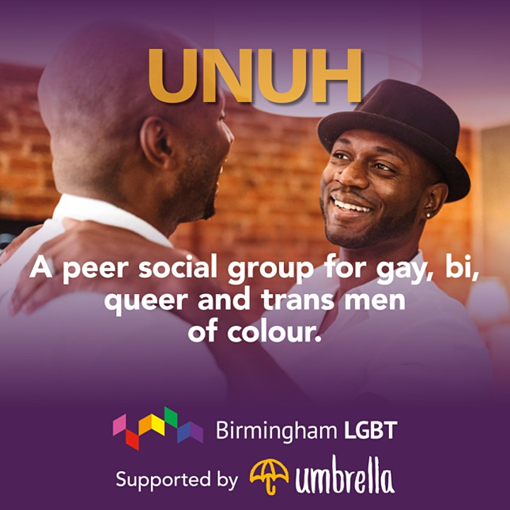 UNUH peer social group, for gay, bi, queer and trans men of colour image