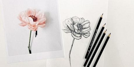 Online Floral Drawing Workshop tickets
