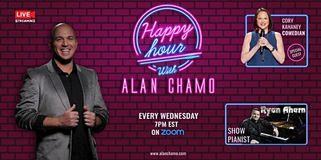 Virtual Happy Hour with Alan Chamo    featuring Comedian Cory Kahaney tickets