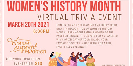 Women's History Month Virtual Trivia Night 2021 tickets