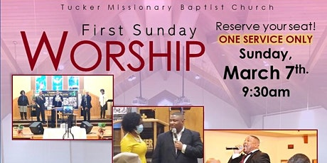 Tucker Missionary Baptist Church In-Person Worship tickets