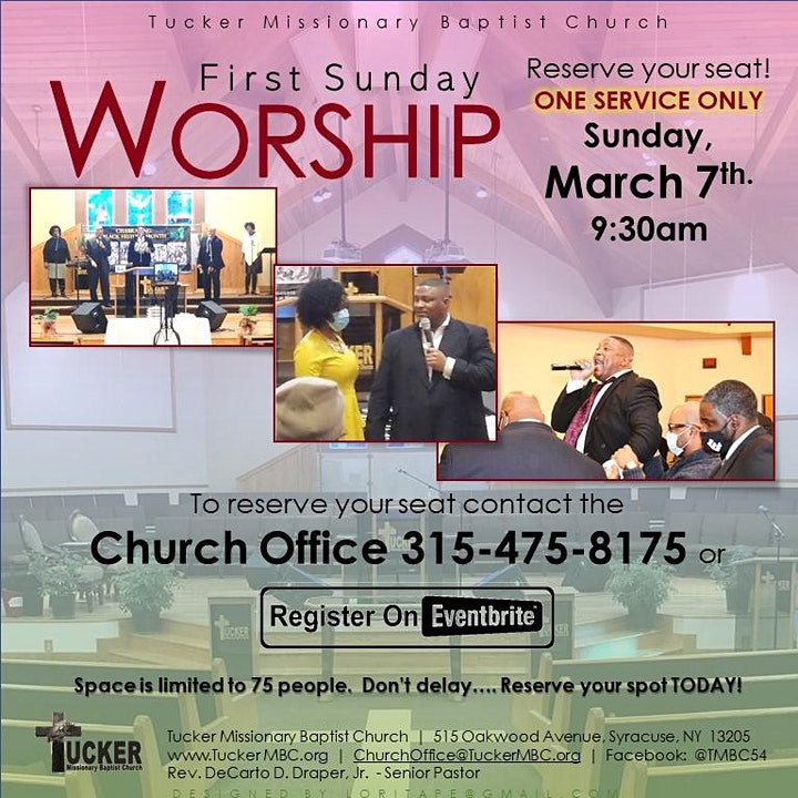 Tucker Missionary Baptist Church In-Person Worship image