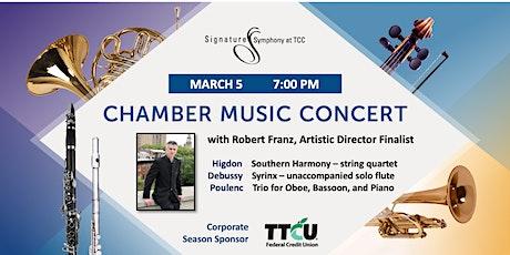 Chamber Music Concert with Robert Franz, Artistic Director Finalist tickets