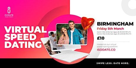 Isodate's Birmingham Virtual Speed Dating - Swipe Less, Date More tickets