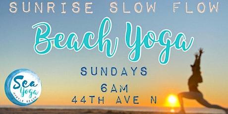 Sunday Sunrise Slow Flow Beach Yoga Class tickets