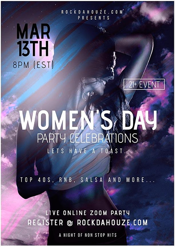 Women's Day Celebration! - Online Zoom Party image