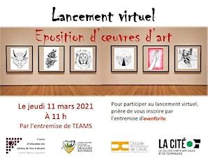Lancement virtuel de l'exposition d'oeuvres d'art billets