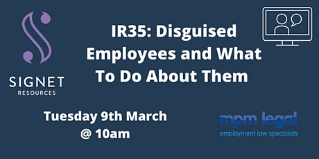 IR35: Disguised employees & what to do about them tickets