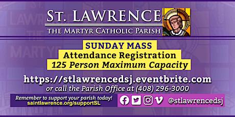 SUNDAY, March 7, 2021 @ 8:00 AM Mass Registration tickets