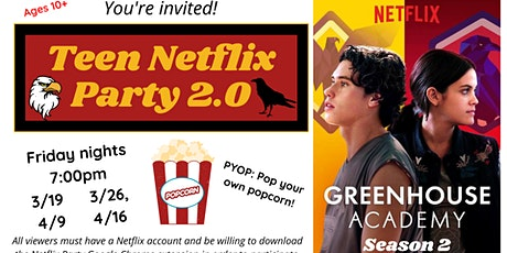 Teen Netflix Party: Greenhouse Academy tickets