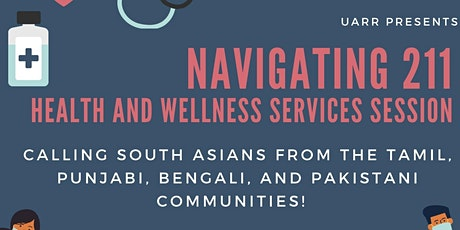 211 Help Line & Health and Wellness Services Webinar for South Asians tickets