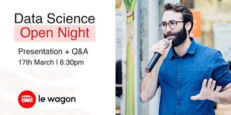 Le Wagon // Data Science - Open Night [Webinar] tickets