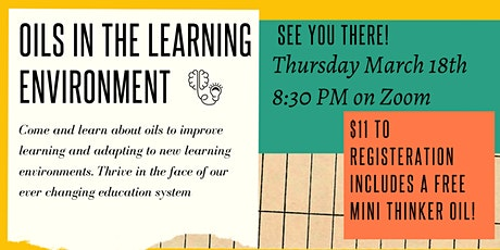 Oils in the Learning Environment tickets