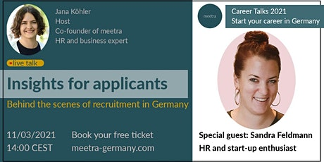 Career Talks: Insights for applicants - Q&A with a recruiter tickets