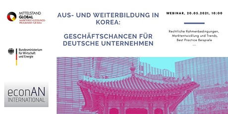 Aus- und Weiterbildung in Südkorea Tickets