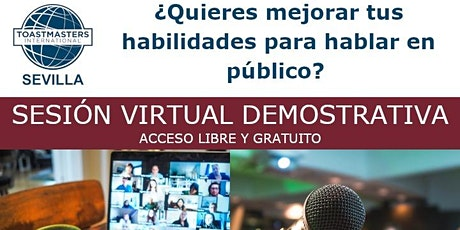 Sesión virtual demostrativa de Toastmasters Sevilla - Mejora tu oratoria entradas