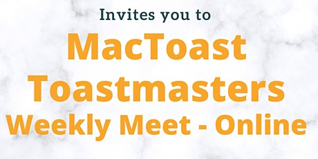 MacToast Toastmasters Club Meeting tickets