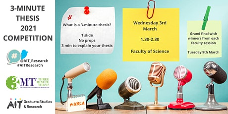 3MT Faculty of Science - 3 Minute Thesis tickets