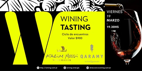 Wining Tasting #KarimMussi #Qaramy entradas