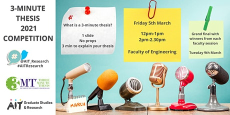 3MT Faculty of Engineering - 3 Minute Thesis tickets