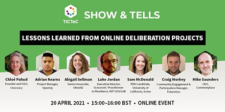 Hearing every voice: lessons learned from online deliberation projects tickets