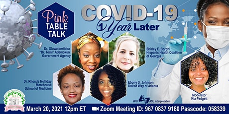 Pink Table Talk: Covid-19  - 1 Year Later tickets