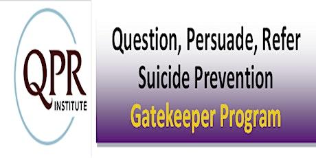 QPR - Suicide Prevention Workshop tickets