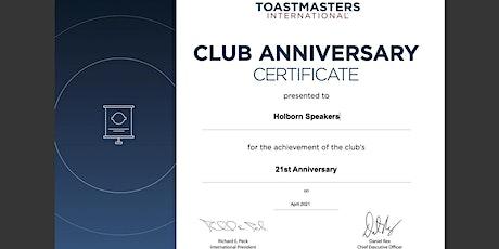 Holborn Speakers 21st Anniversary Celebration tickets