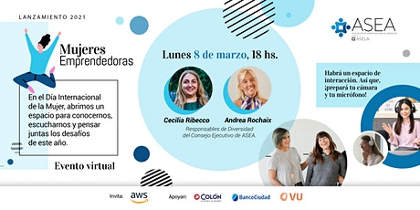 Lanzamiento Mujeres Emprendedoras 2021 entradas
