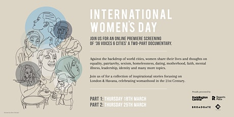36 Voices, 6 Cities in Celebration of International Women's Day - Part One tickets