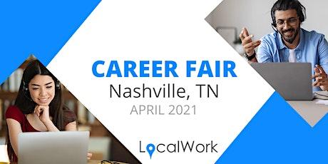 Nashville Job Fair - APRIL 2021 - VIRTUAL CAREER FAIR tickets