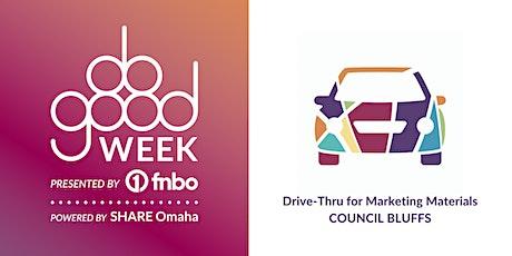 Do Good Week Council Bluffs Drive Thru for Marketing Materials tickets