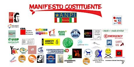 Il Manifesto per la Costituente e la Salute biglietti