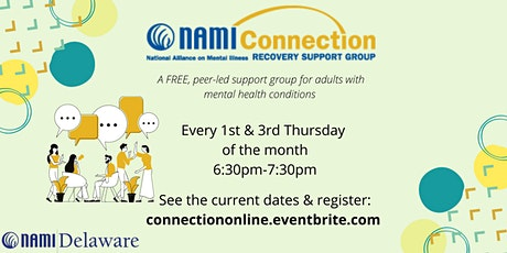 NAMI Delaware Connection Recovery Support Group Online tickets