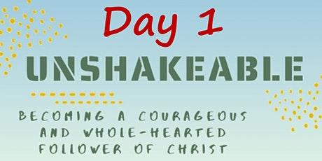 09 April In-Person Unshakable Faith Conference: Day 1 Tickets