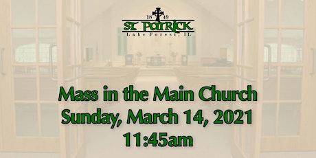 St. Patrick Church Mass, Sunday, March 14 at 11:45am tickets