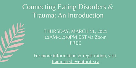 Connecting Eating Disorders and Trauma: An Introduction tickets