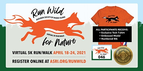 Run Wild for Nature: Virtual 5k Run/Walk tickets