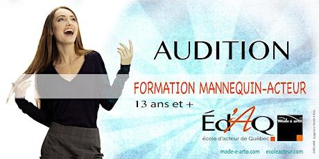 Audition Mannequin-Acteur tickets
