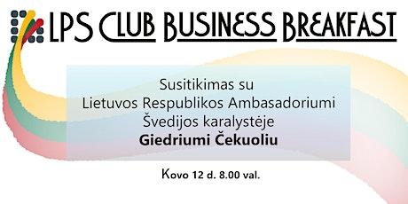 Susitikimas su Lietuvos Respublikos ambasadoriumi Giedriumi Čekuoliu tickets