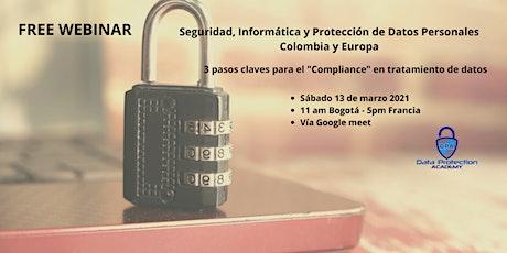 Seguridad, Informática y Protección de Datos Personales – Colombia y Europa boletos