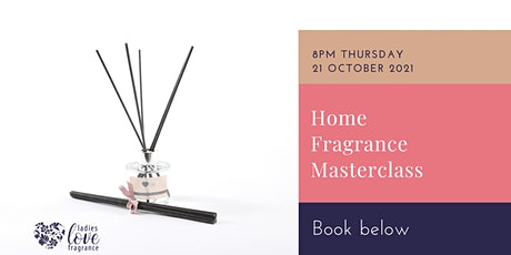 Design your own home fragrance reed diffuser masterclass tickets