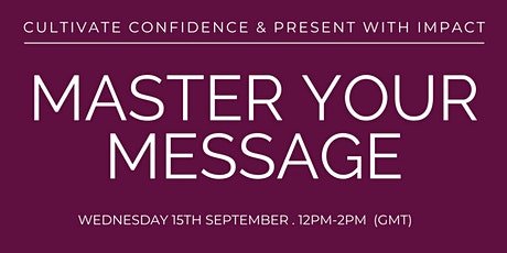 Master Your Message tickets