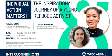 Individual action matters! The inspirational journey of a refugee activist tickets