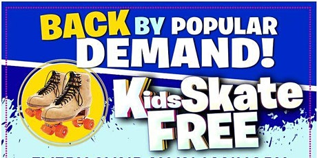 Kids Skate FREE with this Ticket - Sunday, March 14th 1:00-3:30pm tickets