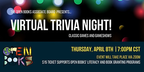 Open Books Virtual Trivia Night - Classic Games & Gameshows! tickets