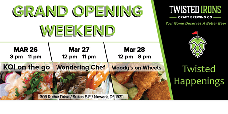 Twisted Irons Craft Brewing Co Grand Opening Weekend - Sat Mar 27 tickets