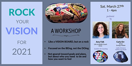 ROCK YOUR VISION:  A virtual mini vision-board  workshop - ON A ROCK! tickets